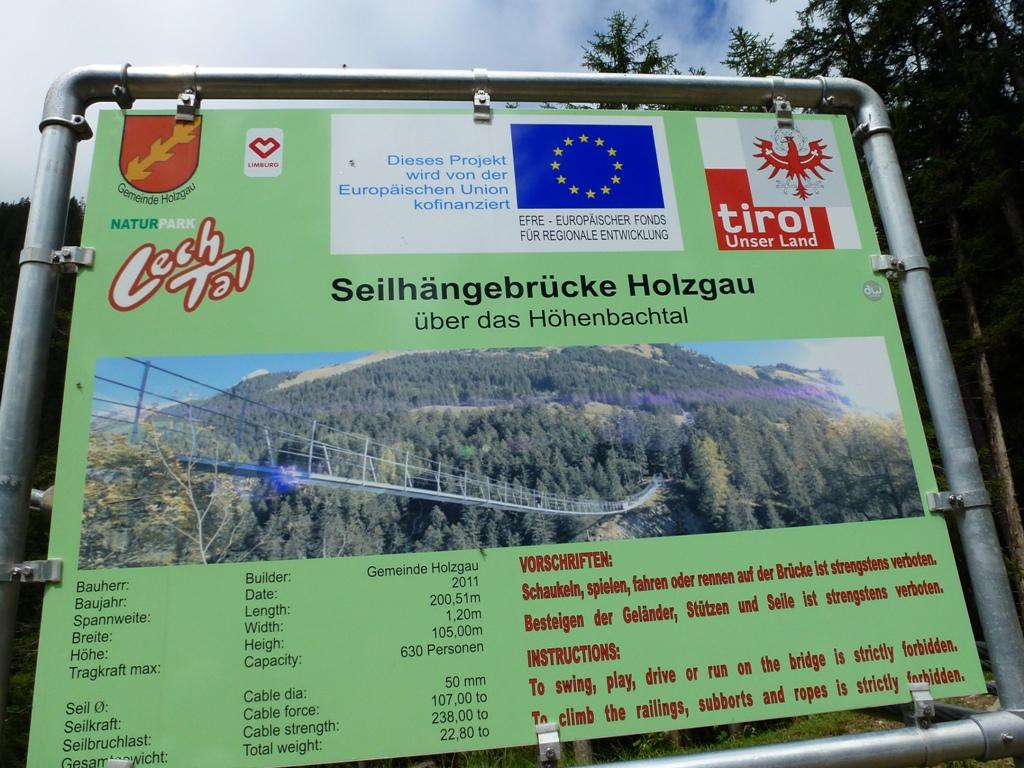 Über die Höhenbachschlucht im Lechtal